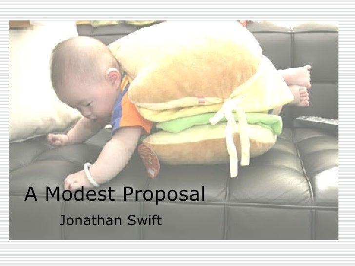 irony modest proposal jonathan swift
