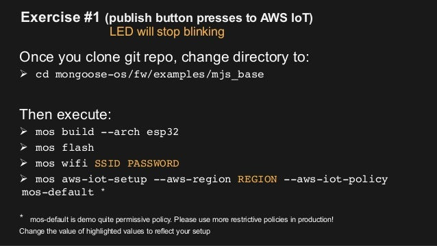 Rapid Prototyping with AWS IoT and Mongoose OS on ESP32 Platform