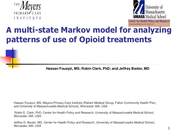 A multi-state Markov model for analyzingpatterns of use of Opioid treatments                         Hassan Fouayzi, MS; R...