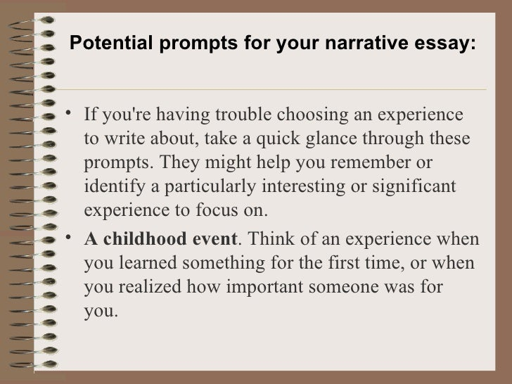 a narrative essay 8 potential prompts for your narrative essay