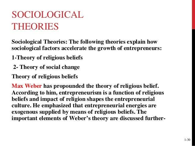 sociological theories of entrepreneurship pdf