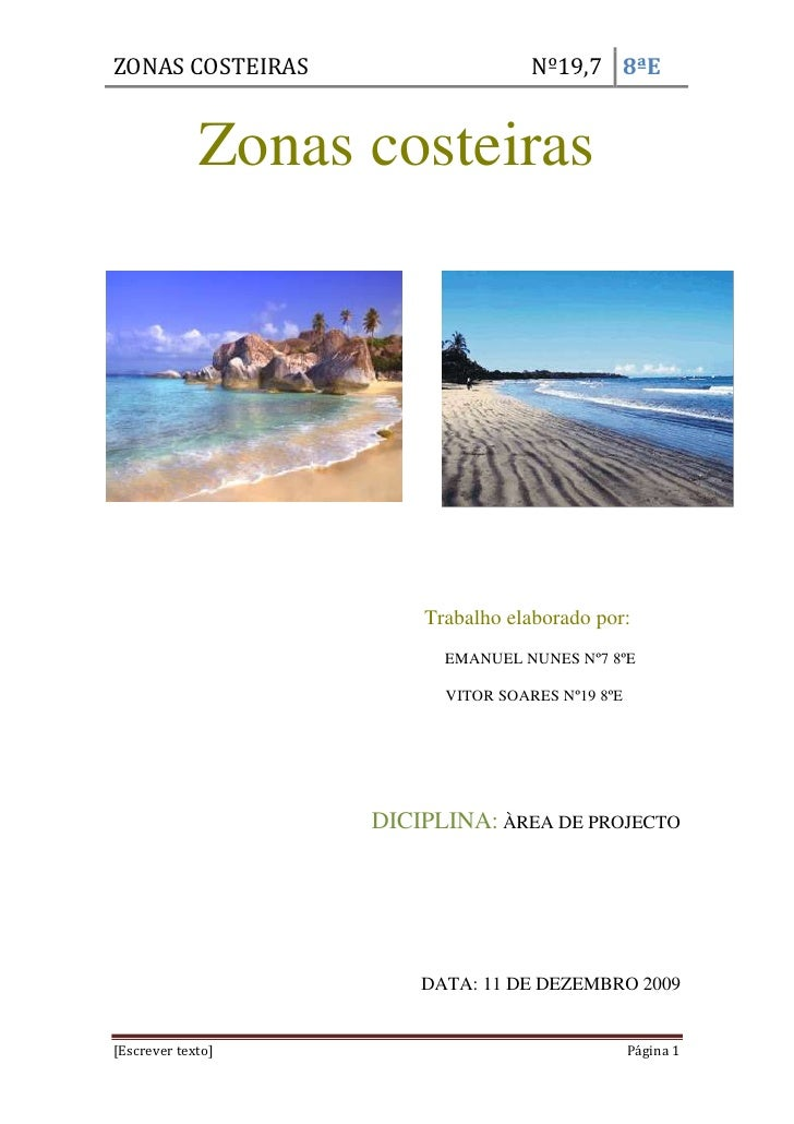 Zonas costeiras<br />3129915697865-70485697865<br />                                                              <br />  ...