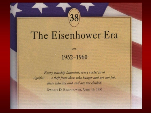 THE ADVENT of EISENHOWER               Explain how conditions favored the               Republicans in the presidential   ...