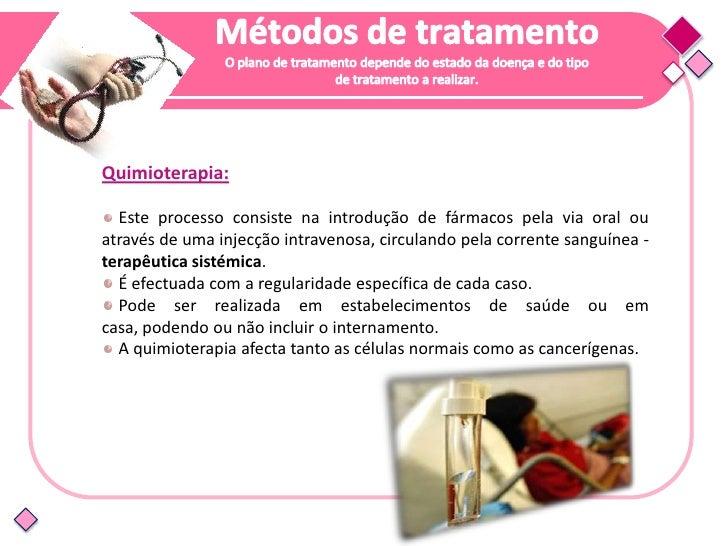Efeitos da quimioterapia:       Alopécia  Náuseas e vómitos        Diarreia   Prisão de ventre        Anemia       Infecçõ...