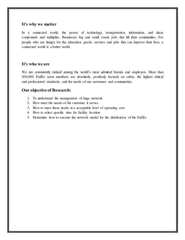 Marketing essay fedex corporation