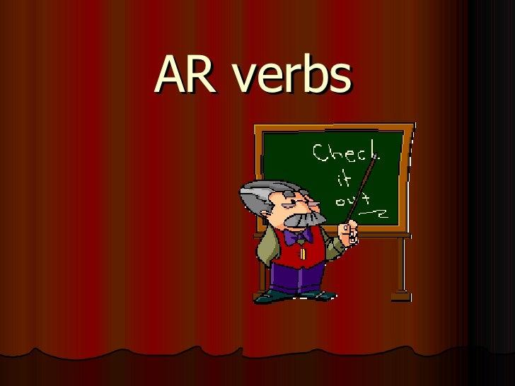 AR verbs