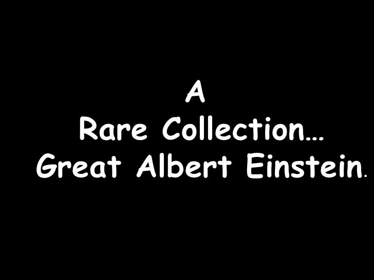 A  Rare Collection… Great Albert Einstein .