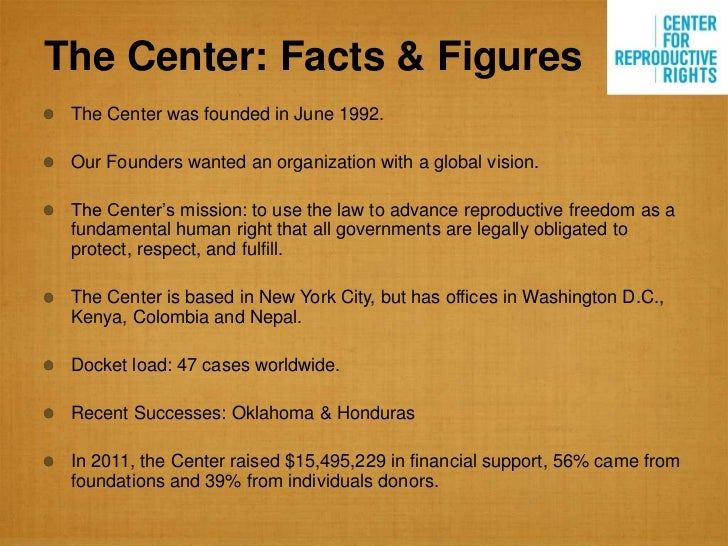 The Center: Facts & Figures The Center was founded in June 1992. Our Founders wanted an organization with a global vision....