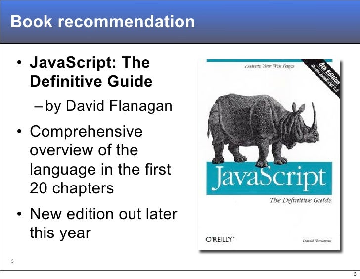 A Re-Introduction to JavaScript Slide 3