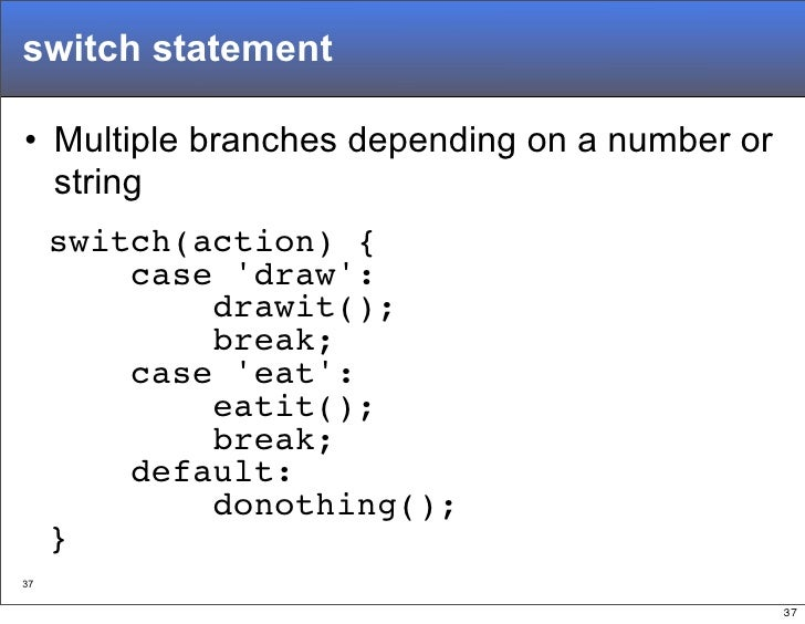 javascript switch case string