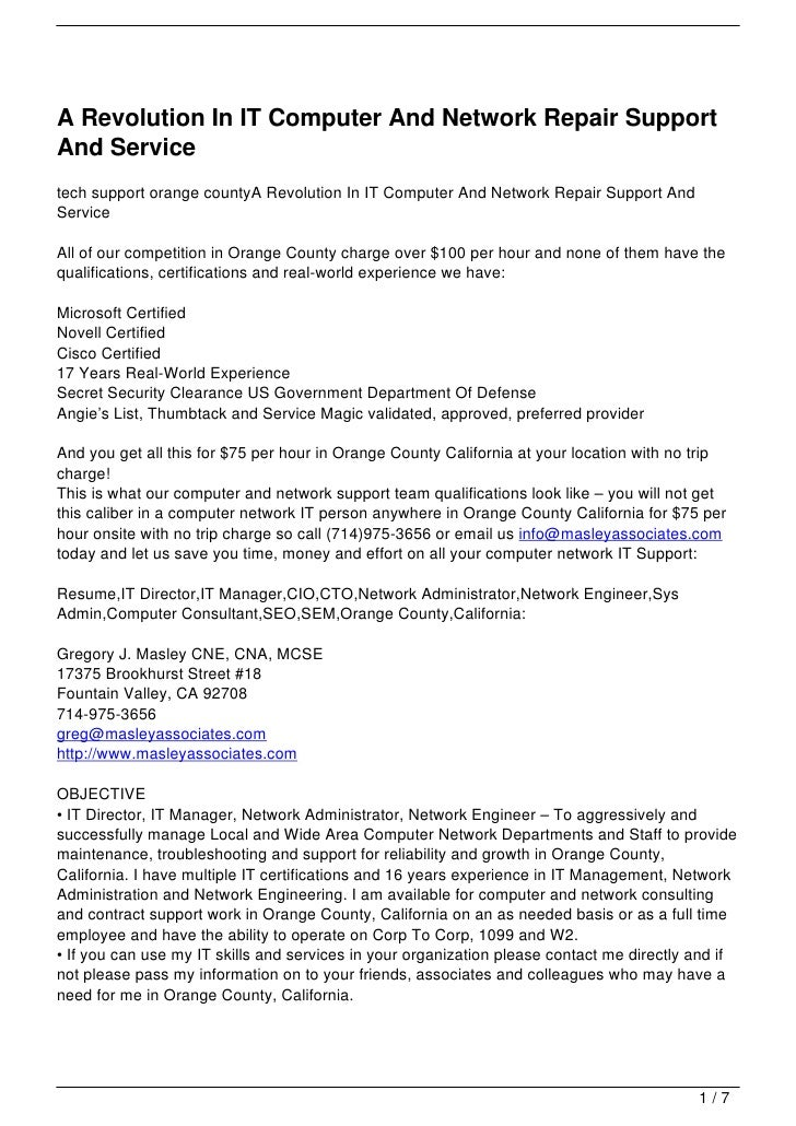 A Revolution In IT Computer And Network Repair SupportAnd Servicetech support orange countyA Revolution In IT Computer And...