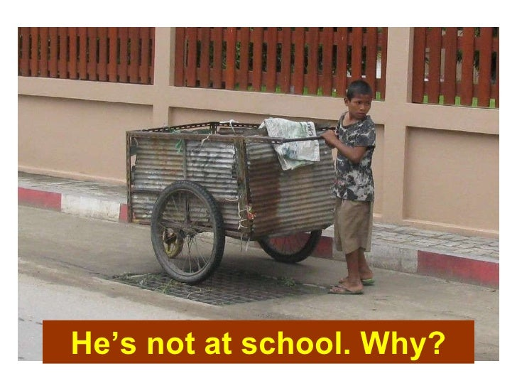 He's not at school. Why?