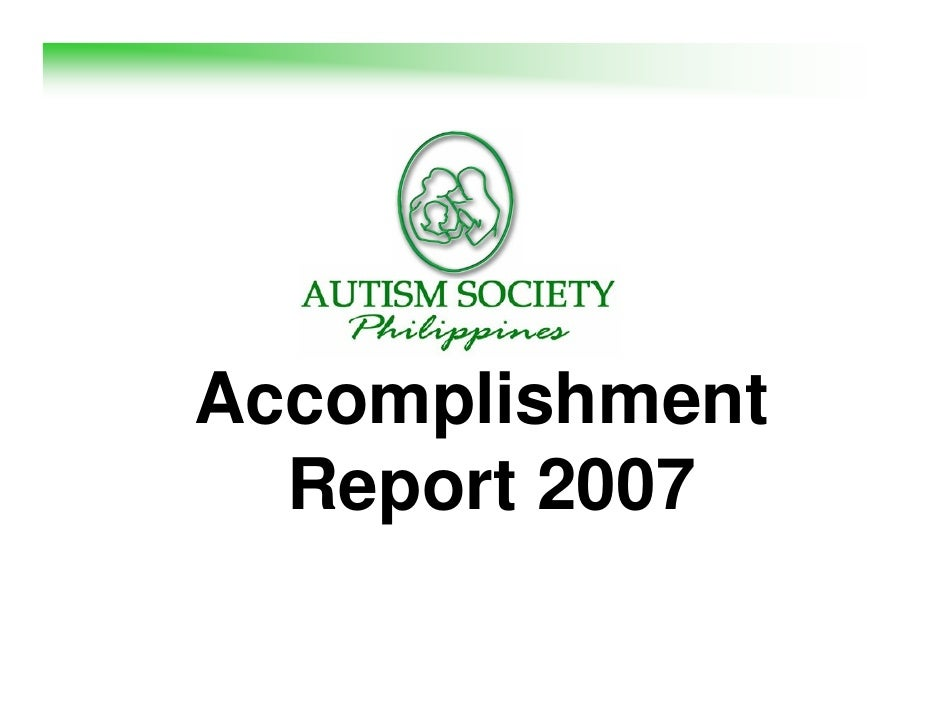 Accomplishment   Report 2007