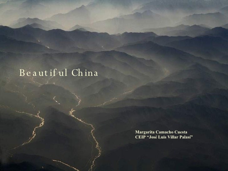 "Margarita Camacho Cuesta CEIP ""José Luis Villar Palasí"" Beautiful China"