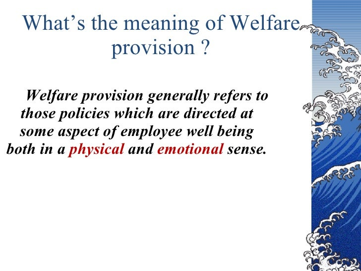 welfare provision 2009-8-26 argentina's welfare regime: protection, social capital and citizenship, 1991-2005  argentina: stages of welfare provision: from import substitution to.