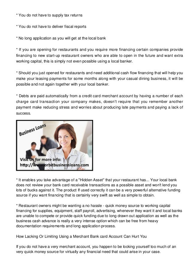 A Small Business Money advance Review For Restaurant managers Seeking…