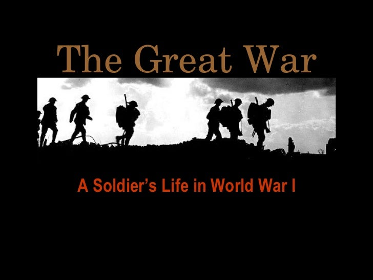 The Great War A Soldier's Life in World War I