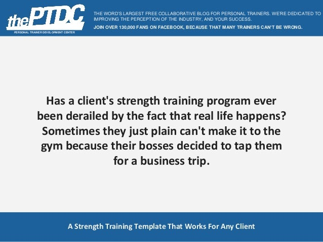 strength and conditioning templates - a strength training template for clients with busy lives