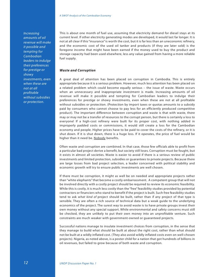 economic in cambodia essay History of the kindom of cambodia essay 516 words in this profile report, cambodia's demographics, economy, political environment, investment laws.