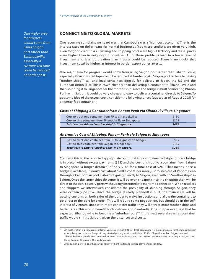 Swot Analysis Bangladesh Economy