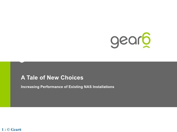 A Tale of New Choices Increasing Performance of Existing NAS Installations
