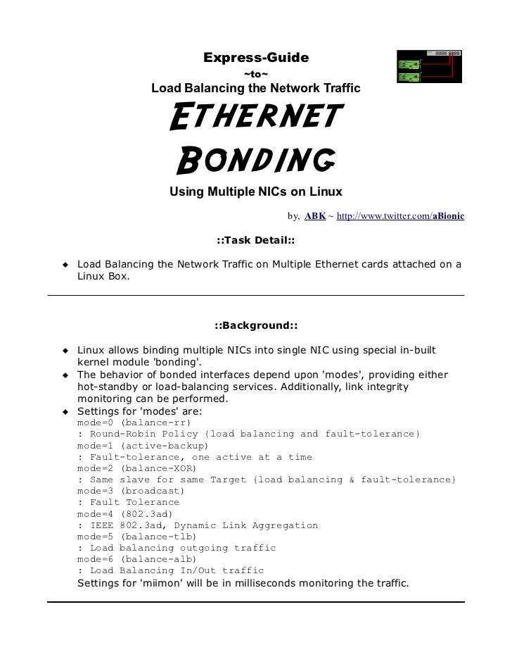Express-Guide                                  ~to~                 Load Balancing the Network Traffic                    ...