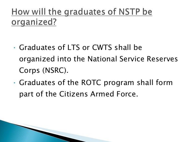 the national service training program To become a nso, an extensive 16-month training program is given to each   our largest endeavor in fulfilling that mission is our national service program.