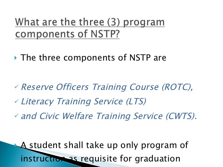 A. the national service training program
