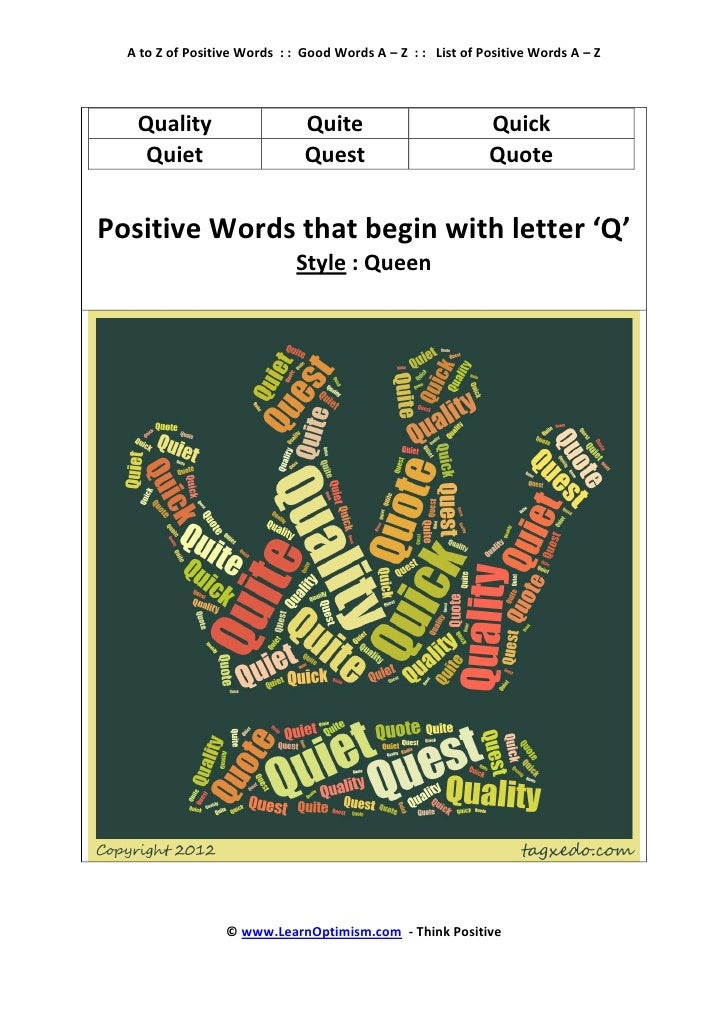 Positive Words That Start With The Letter R Mersnoforum