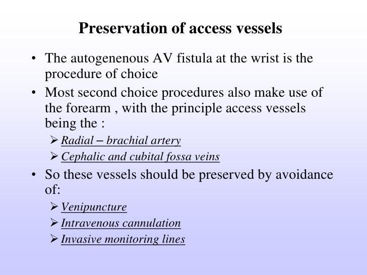 a v fistula in heamodialysis, Cephalic Vein
