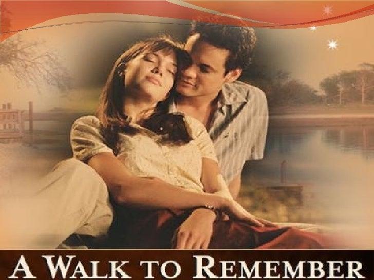 a walk to remember movie A walk to remember is a novel by american writer nicholas sparks,  the movie was directed by adam shankman and produced by denise dinovi and hunt lowry for warner.