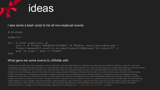 """ideas I also wrote a bash script to list all non-replaced events: #!/bin/bash TOKEN=""""$1"""" for i in $(cat events.txt); do cu..."""