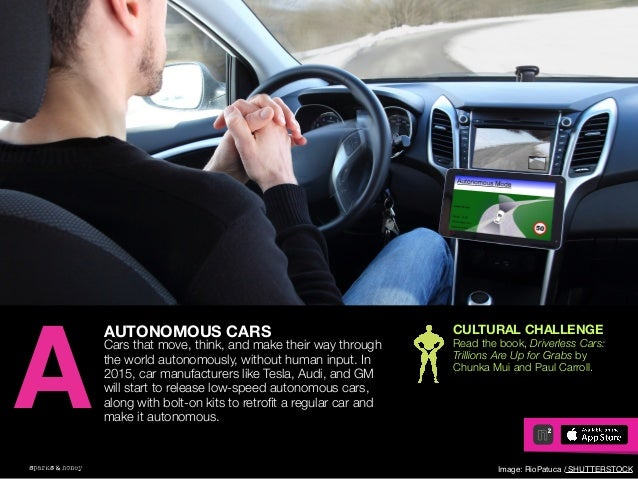 AGENCY OF RELEVANCE AUTONOMOUS CARS Cars that move, think, and make their way through the world autonomously, without huma...