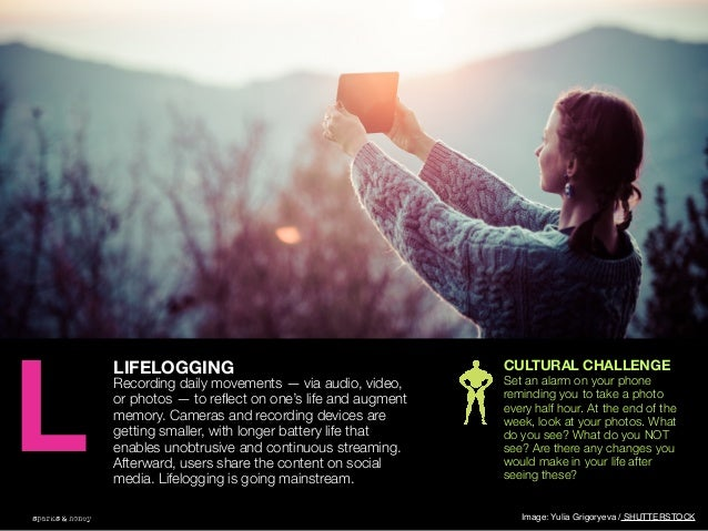 AGENCY OF RELEVANCE LIFELOGGING Recording daily movements — via audio, video, or photos — to reflect on one's life and augm...