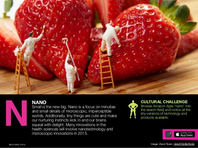 AGENCY OF RELEVANCE NANO Small is the new big. Nano is a focus on minutiae and small details of microscopic, imperceptible...