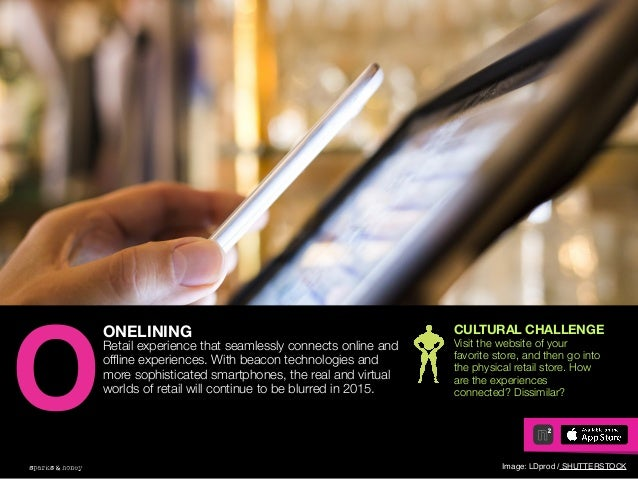 AGENCY OF RELEVANCE ONELINING Retail experience that seamlessly connects online and offline experiences. With beacon techno...
