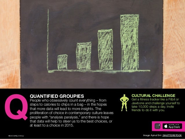 AGENCY OF RELEVANCE QUANTIFIED GROUPIES People who obsessively count everything – from steps to calories to chips in a bag...