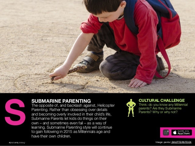 AGENCY OF RELEVANCE SUBMARINE PARENTING The opposite of, and backlash against, Helicopter Parenting. Rather than obsessing...