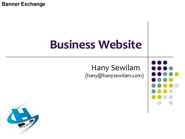 Business Website  Technically speaking a web site is a related collection of World Wide Web (WWW) files that includes a b...