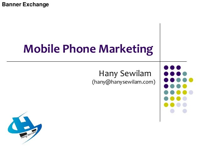 Mobile Phone Marketing  Mobile telephone marketing is the use of mobile phone technologies such as voice, text and multim...
