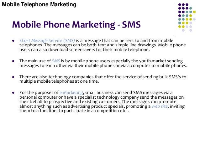 Mobile Phone Marketing - SMS Mobile Telephone Marketing