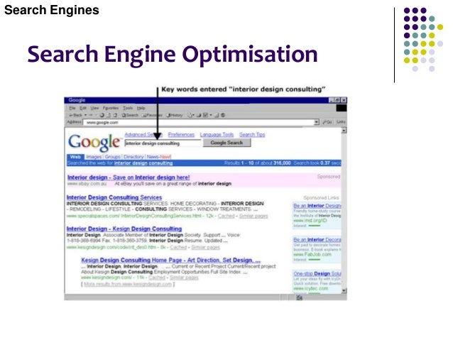Search Engines and Directories A directory site is one that contains manually compiled categories of Web sites, whereas a ...