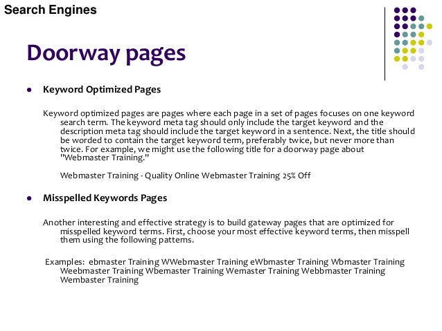 Doorway pages Link the Gateway Pages  Assuming you have hundreds of gateway pages, it would be neither practical nor advi...