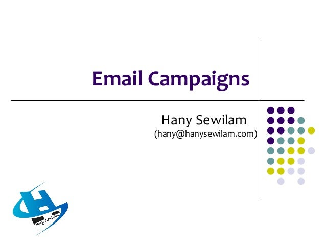 About Email Campaigns  Email or electronic mail has revolutionised communication. Anyone with access to the internet and ...