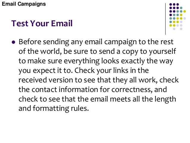 Avoid Email Attachments  Some companies have found email attachments containing postcards, slide shows, or even commercia...