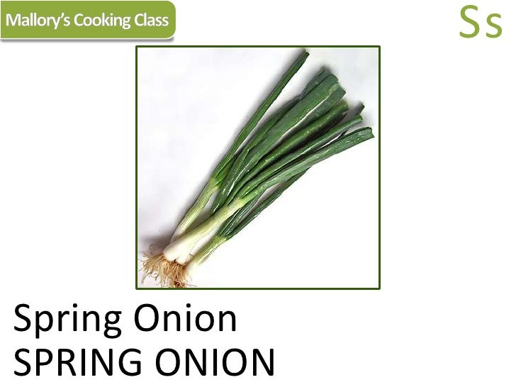 Mallory's Cooking Class<br />Ss<br />Spring Onion<br />SPRING ONION<br />