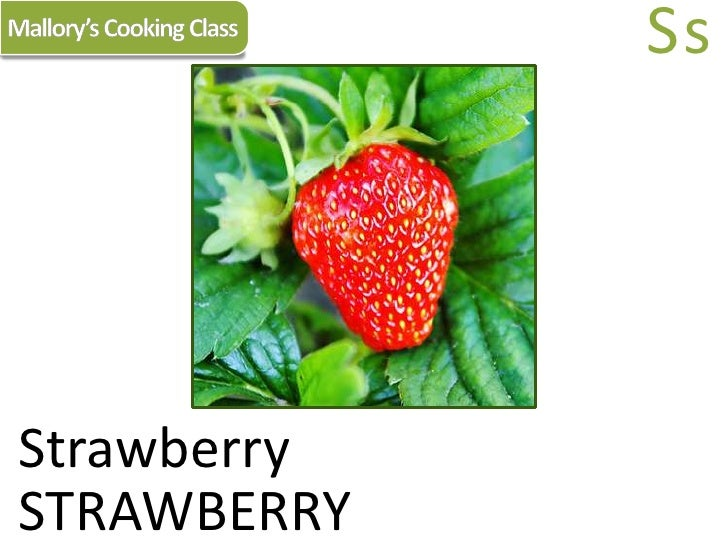 Mallory's Cooking Class<br />Ss<br />Strawberry<br />STRAWBERRY<br />