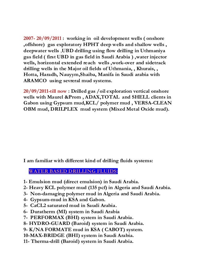 a  zouaghi drilling fluids  u0026 waste management engineer cv