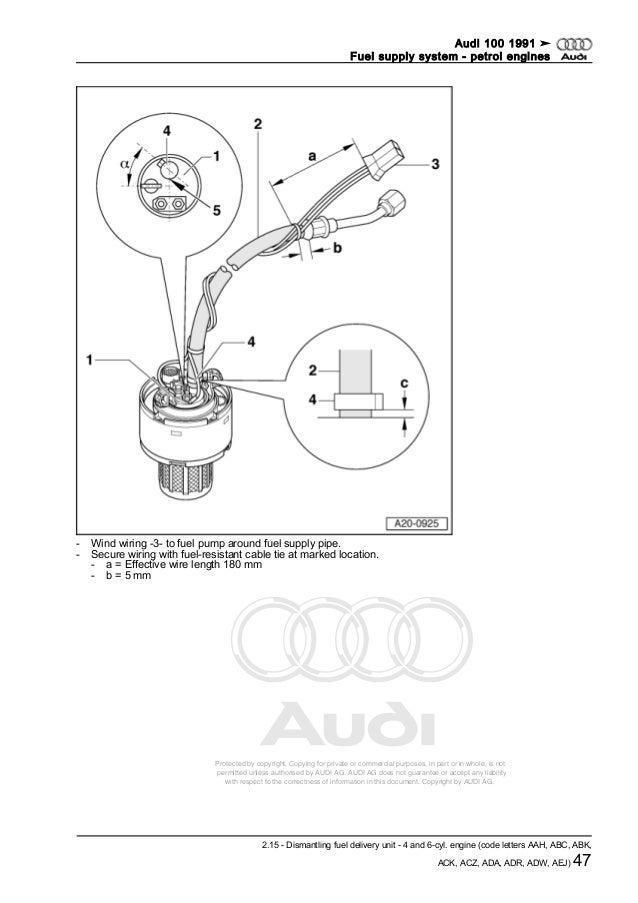 AUDI A0052509920 fuel supply-system_-_petrol_engines