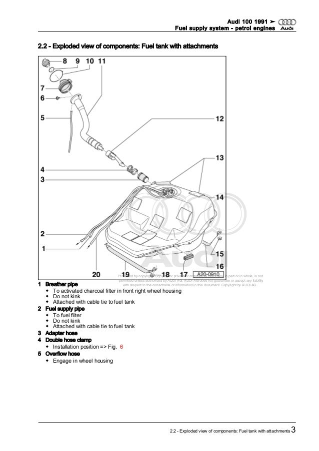 AUDI A0052509920 fuel supply-system_-_petrol_engines